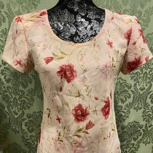 Jessica Howard Pink Floral Dress, 8